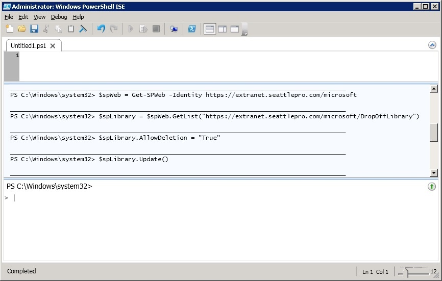 How to Delete the Drop Off Library in SharePoint 2010