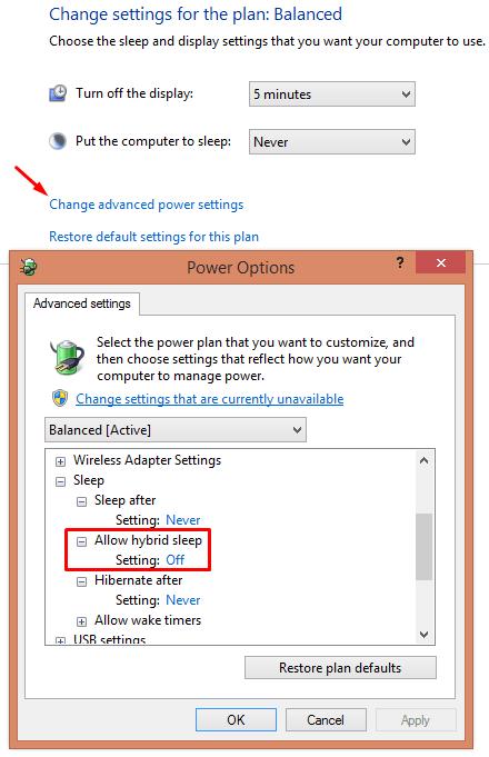 windows 2003 delete hiberfil.sys