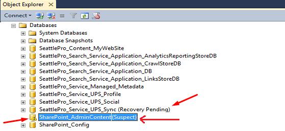 how to make database suspect in sql server
