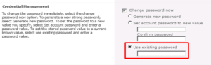 Use_existing_password