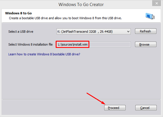 Step-by-Step Instructions for Creating a Windows to Go USB