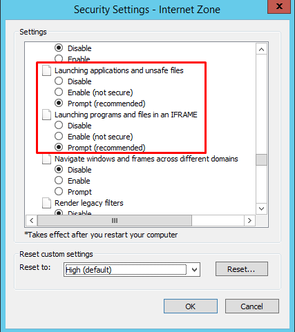 """How to fix """"your current security settings do not allow this file."""