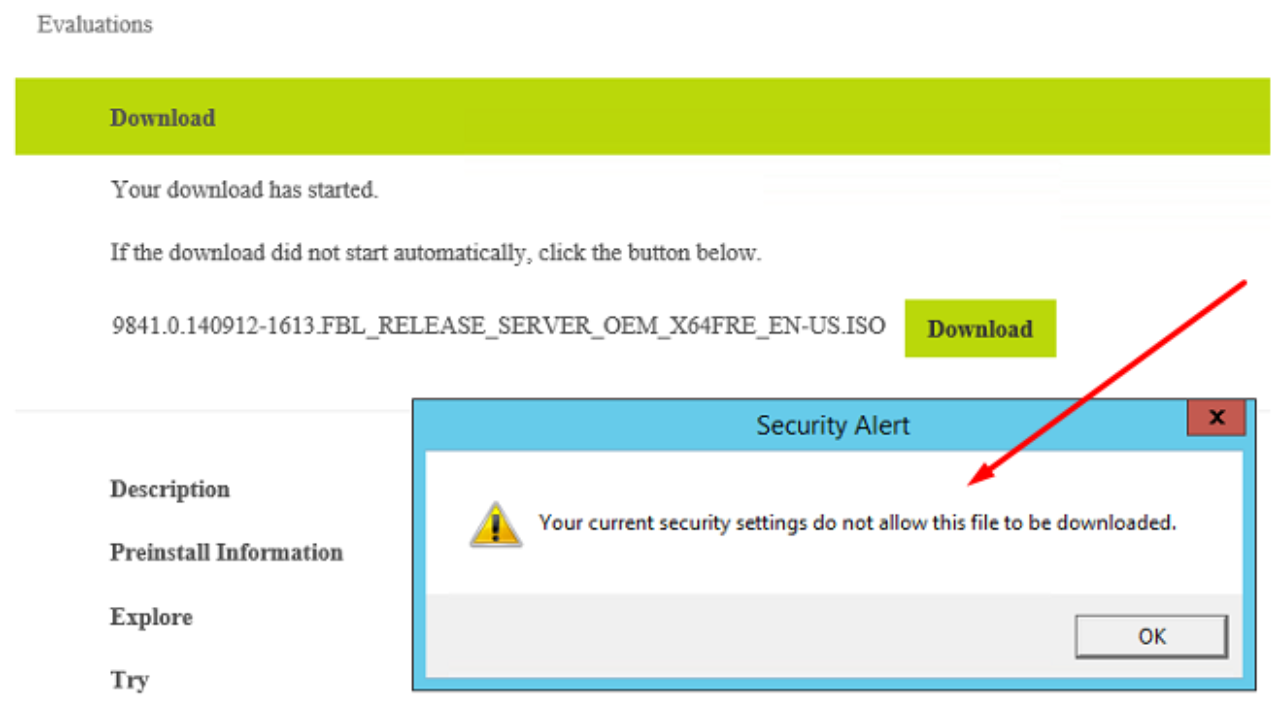 IE Error: Your Current Security Settings Do Not Allow This File To