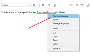 how to enable add to dictionary in outlook 2013