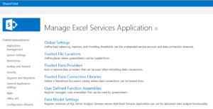 ManageExcelServicesApplication