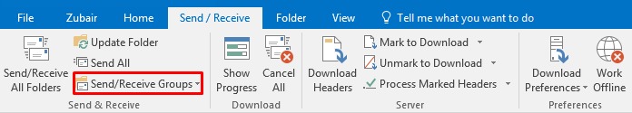 Automatic Send/Receive Not Working in Outlook | Alexander's Blog