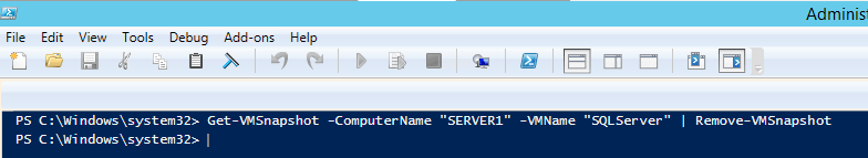 Removing Backup Checkpoint in Hyper-V That Has No Delete