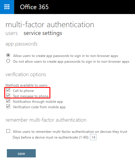 Multifactor Authentication Considerations in Office 365