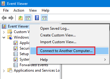 Accessing Event Viewer Logs on Remote Computers